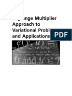 Lagrange Multiplier Approach to Variational Problems and Applications