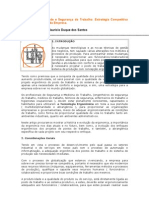 Ergonomia, Qualidade e Segurança do Trabalho-Estratégia Competitiva para Produtividade da Empresa.