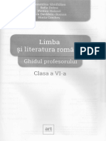 Limba Romana - Clasa 6 - Ghidul Profesorului
