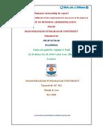 Summer internship in report.docx 1