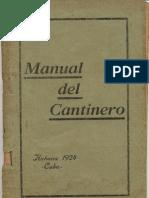 Manual de Cantineros - Club de Cantineros - Habana 1924 cuba