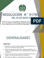 PRESENTA--RESOLUCIÓN  N° 01785 del 02 de MAYO 2019