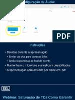Apresentação Webinar - Saturação de TCs Como Garantir a Proteção de Sobrecorrente 10.02.2020