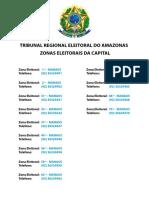 Lista de zonas e cartorios