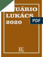 Anuário Lukács 2020. Alcântara N. & Jimenez S. (Org). 2020