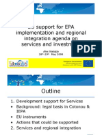 2008-05 - EU Support for EPA Implementation and Regional Integration - Agenda on Services and Investment