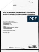 1996 05 Site Restoration Cost Estimates for Pu dispersal accident