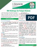 244. Missa DOMINGO COMUM XXI (Ano B) 22-08-2021
