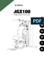 Hgx100 Manual