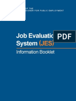 Job Evaluation System (JES) Info Book