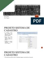 Projeto Android Sistema de Cadastro