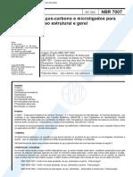 NBR  7007 - 2002 - Aços Carbono E Microligados Para Uso Estrutural Em Geral