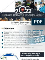 City Manager FY 2022 Proposed Presentation Aug 10