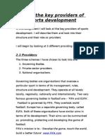 Sports development - providers