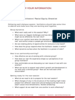 Facilitators' Racial Equity Checklist