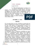 2021-08-12 Dictamen Estado de Derecho y Democracia en Cuba