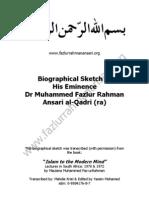 Biographical Sketch of Maulana Ansari (Ra)