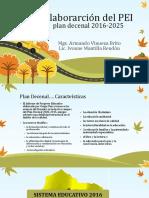 Elaborarción del PEI 2016
