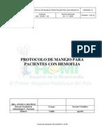 Guia de Manejo para pacientes con Hemofilia