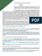 Histoire Des Fondements Juridiques de l'Europe[1]