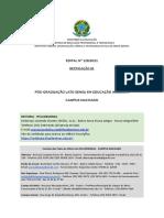 Edital 126-2021 - Pós-Graduação Em Educação Inclusiva - Machado - Retificado 01