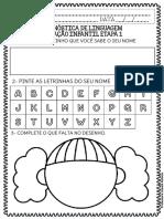 Ed Infantil Pré I Avaliação Diagnóstica Inicial 2021