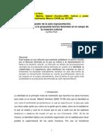 El Poder de La Auto-representación- Cultura y Poder- Cynthia Pech-revisado 2008