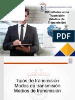 2 - Dificultades en la Transmision - Tipos Medios de Transmisión