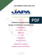 Portafolio DE TERAPIA FAMILIAR ANA Y DIOS