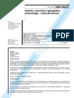 NBR NM 02 - Cimento concreto e agregados - terminologia