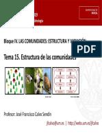Tema 15 Estructura de las comunidades