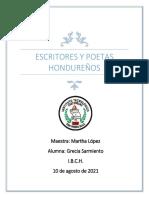 Poetas, Proceres, Escritores Hondureños