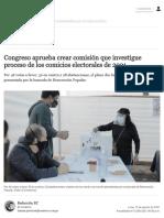 Congreso aprobó crear comisión que investigue proceso de los comicios Elecciones Generales Perú 2021 JNE nndc _ POLITICA _ EL COMERCIO PERÚ