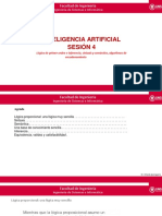 IA - Sesión 5 - Lógica de Primer Orden e Inferencia, Sintaxis y Semántica, Algoritmos de Encadenamiento - Copia