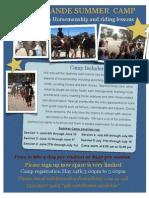 Summer Camp Flyer 2011