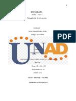 ETNOGRÁFIA - unidad 1 -fase 4- Triangulacion de Informacion -  Hames Morales
