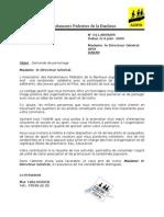 lettre Demande de parrainage APIX SA