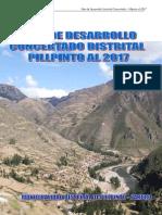 Plan Desarrollo Concertado Pillpinto al 2017
