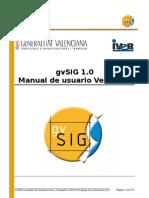 gvSIG 1.0 - Manual de Usuário