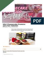 ▷ Receta Mini Cheesecake Proteico para San Valentín【HSN Blog】