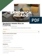 Sandwich Helado Rico en Proteínas _ Apto Para la Dieta Fitness