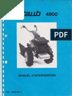 Staub 4900 manuel intervention