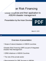 Disaster Risk Financing - ADB Experience