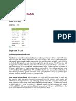 axis bank analasis report