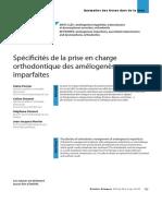 Article 6 - Spécificités de La Prise en Charge Orthodontique Des Amélogénèses Imparfaites