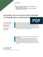 Article 8 - Anomalies de la structure ostéo-dentaire et réhabilitations implantoprothétiques