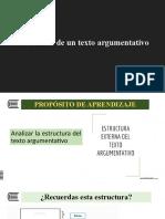 S.1 Estructura del texto argumentativo