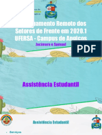 Funcionamento Remoto dos Setores de Frente em 2020.1  UFERSA - Campus de Angicos