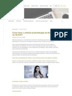 Como fazer o método (metodologia) da dissertação ou da tese_
