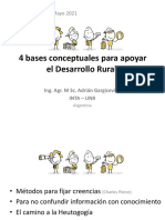 4 bases conceptuales para apoyar el desarrollo rural